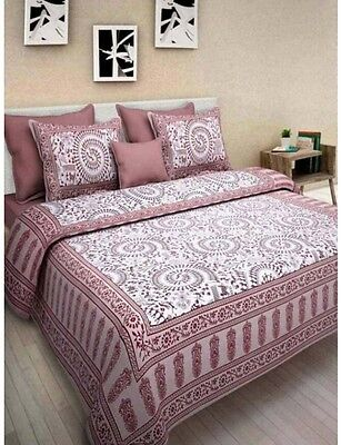 Home Decor Floral Printed Cotton Bedsheet With 2 Pillow Cover King Size Throw