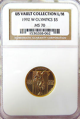 1992 W $5 GOLD Olympics Commemorative NGC MS70 * US VAULT COLLECTION