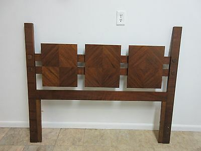 Vintage Mid Century Lane Brutalist Queen Full Size Headboard Bed