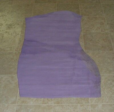 (AEE6384-2) Hide of Lavender Cow Suede Leather Hides Skin