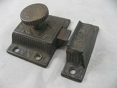 Ornate Jelly Cabinet Door Cupboard Lock Latch Vintage Antique Cast Iron #1
