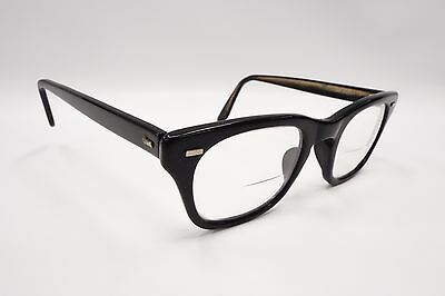 Romco 46[]22 Eye Glasses Frames Horn Rim Vintage 4 1/2-5 3/4 Black 3438