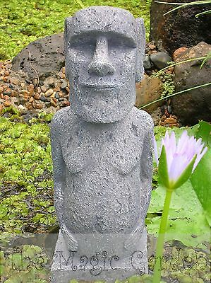Easter island statue garden ornament cement plaster craft latex moulds molds