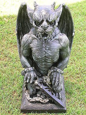 Large Gargoyle & Sword Cement Concrete Plaster Latex Moulds Mold Garden Ornament