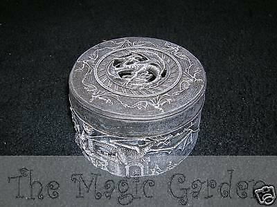 Dragon skull trinket box plaster craft latex molds moulds