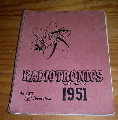 Radiotronics 1951 radio magazines Amalgamated Wireless Valve Co Sydney