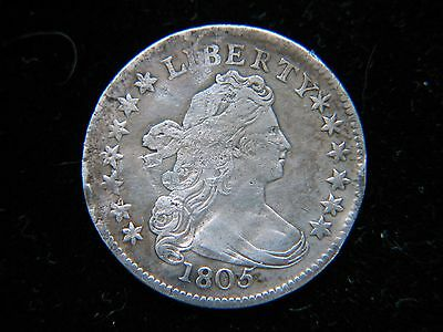 1805 4 Berries 10C Draped Bust Dime Rare Early Type Coin Bold Detail Damaged