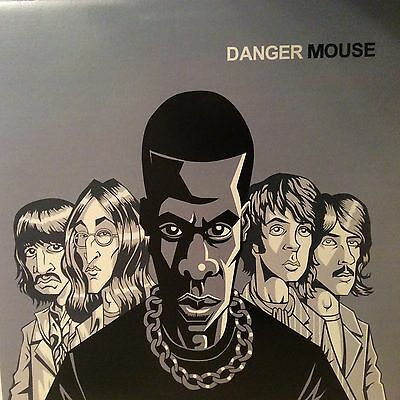 "Danger Mouse "" The Grey Album Lp "" ** Dark Grey / Black Marbled Vinyl ** New"