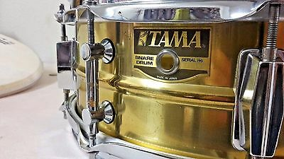 "Tama Power Metal Brass Snare Drum 14""x5"" PM 325 Hard To Find 80's"