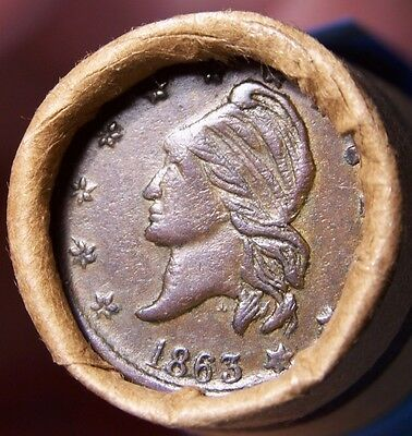 1863 C W Token /1891 Indian Ends Mixed Old Roll Wheat/indian Estate Cents #1008