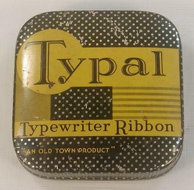 Antique Vintage Typal Typewriter Ribbon Tin Old Town, Brooklyn,new York