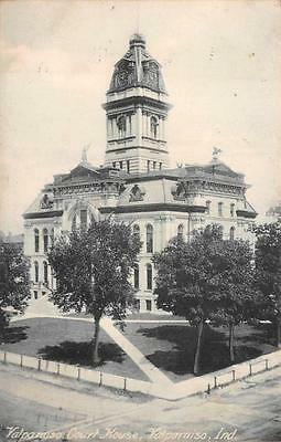 Valparaiso Court House Indiana Postcard 1908