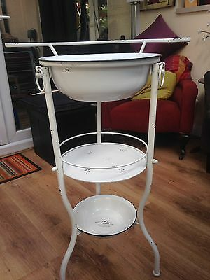 New Unused Shabby Chic  Vintage French Style Enamel Wash Stand 3 Tier