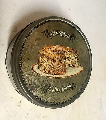 Antique Ward's Baking Co. Paradise Fruit Cake collectible TIN