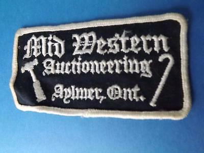 Mid Western Auctioneering  Patch Vintage Aylmer Ontario Auction Company