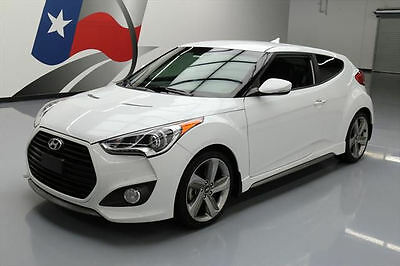 2013 Hyundai Veloster Turbo Hatchback 3-Door 2013 HYUNDAI VELOSTER 3DR COUPE TURBO HTD LEATHER 42K #158874 Texas Direct Auto