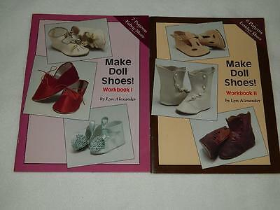 Make Doll Shoes Workbook 1 & 2 Lyn Alexander Free Ship