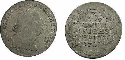 1759 Prussia(German States) Silver 1/3 Thaler.Friedrich the Great