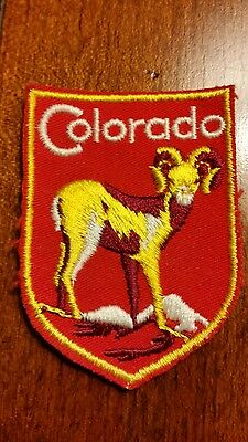 Vintage Souvenir Patch COLORADO  Embroidered Patch