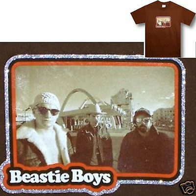 Beastie Boys! Take Out/band Photo Brown T-Shirt Xl X-Large New Official