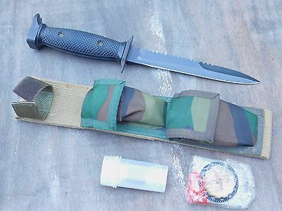 Survival Fighting Knife 1970s Imperial M7S Dagger w/ Kit US M3 Trench Design