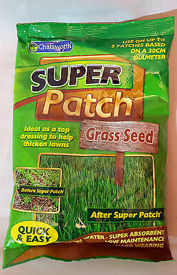200G Chatsworth SUPER PATCH Lawn Repair Grass Seed Thicken Lawns  Hardwearing
