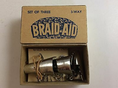 Braid Aid In Original Box With Instructions Set Of 3 For Making Rugs, Mats, Cove