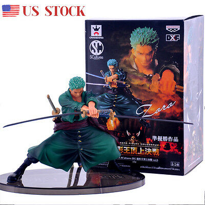 US One Piece Roronoa Zoro PVC Figure Model Japan Anime Figurine Toys 12cm/4.7""