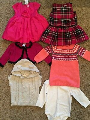 Lot Baby Infant Girls Clothes Dresses Sweater Gymboree 12-18 Months Old Navy C P