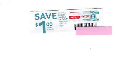 COUPONS SAVE 10 X $1  on COLGATE SENSITIVE PRO-RELIEF TOOTHPASTE  - CANADA ONLY