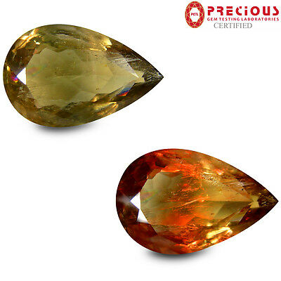 18.75 ct PGTL Certified Five-star Pear (24 x 15 mm) Un-Heated Change Diaspore