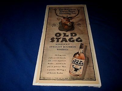 Old Stagg-Kentucky Straight Bourbon Whiskey-Original 1945 Color Print Ad
