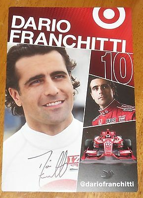 Dario Franchitti Autographed Indy Car Photo Proof