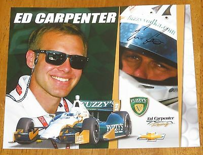 Ed Carpenter Autographed Indy Car Photo Proof