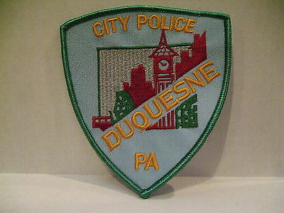 police patch  CITY POLICE DUQUESNE  PENNSYLVANIA