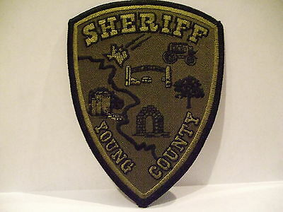 police patch  YOUNG COUNTY SHERIFF  TEXAS  SUBDUED