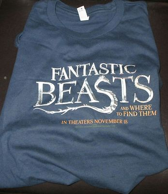 Fantastic Beasts And Where To Find Them Limited Edition Promo T-Shirt RARE 2