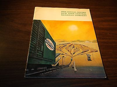 1960 New York Central Railroad Company Nyc Annual Report