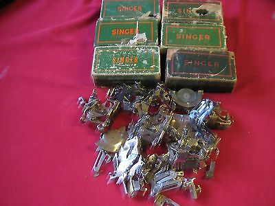 lot Singer Featherweight 221 sewing machine Attachments other low shank Singer