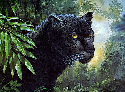 Wall art Animals Black Panther Oil Painting Picture HD Printed on canvas L382