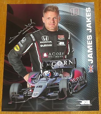 James Jakes Autographed Indy Car Photo Proof