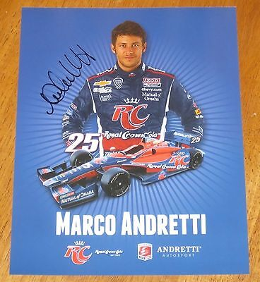 Marco Andretti  Autographed Indy Car Photo Proof