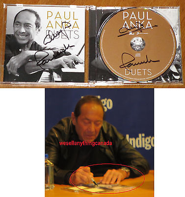 Paul Anka AUTOGRAPHED Duets CD 2 Signatures with PROOF