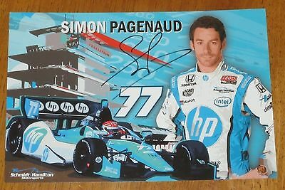 Simon Pagenaud Autographed Indy Car Photo Proof