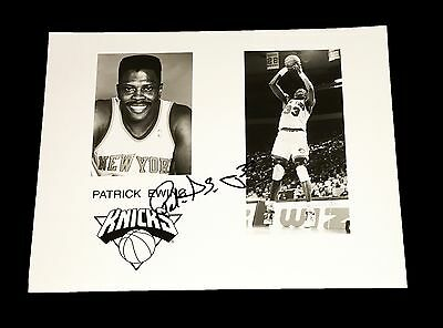Nba New York Knicks Patrick Ewing Hand Signed Autographed 8X10 Photo With Coa