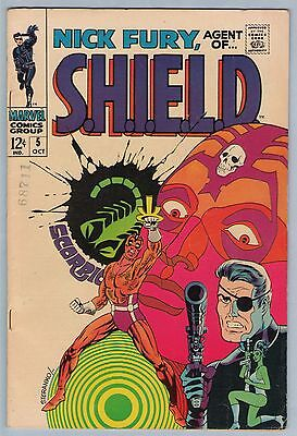 Nick Fury Agent of SHIELD 5 Oct 1968 VF- (7.5)