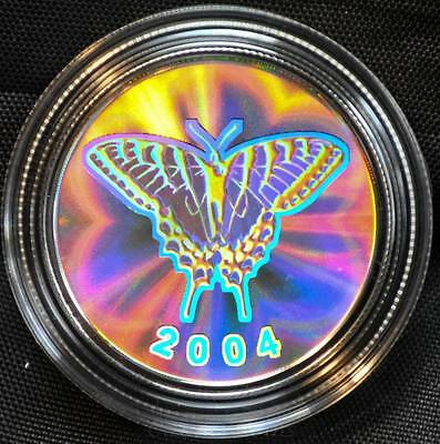 2004 Canada 50 cent Coloured Coin - Tiger Swallowtail