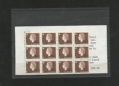 R304) Canada 048 Block Of 12 With Black Lines Across Face