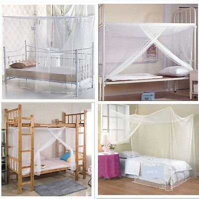 Summer 4 Corner Post Bed Canopy Mosquito Net Full Queen King Large Bed Netting