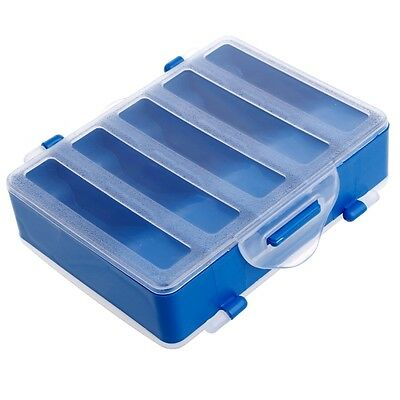 Fishing Lures Hook Bait Plastic Storage Box Multi-function Case Tackle Accessory